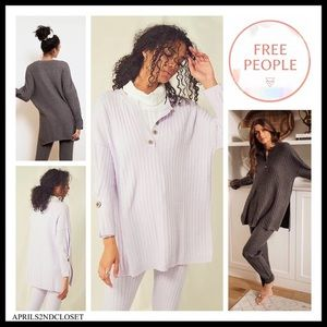 FREE PEOPLE BOHO PULLOVER TUNIC TOP FLOWY TEE A3C